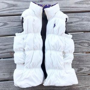 Ralph Lauren Down puffy vest reversible M cream